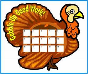 fall and thanksgiving sticker charts With turkey template for bulletin board