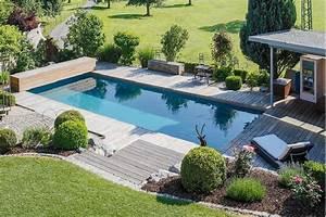 Gartengestaltung Mit Holz : garten mit einem pool individuell gestalten galanet ~ Watch28wear.com Haus und Dekorationen