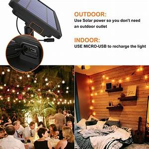27ft, waterproof, solar, led, outdoor, string, lights, for, patio