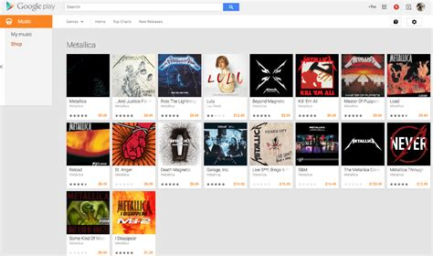 Metallica Discography Arrives On Google Play, Available