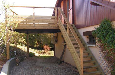 terrasse bois escalier bois et garde corps bois en pin terrasse