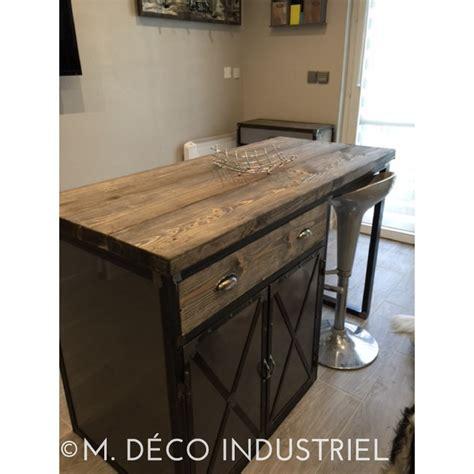 meuble de cuisine industriel meuble pour ilot central meilleures images d 39 inspiration