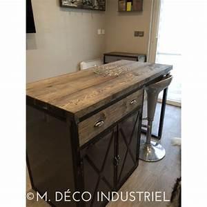 Meuble De Cuisine Industriel : best meuble industriel lot centrale de cuisine with plan pour fabriquer un ilot de cuisine ~ Teatrodelosmanantiales.com Idées de Décoration