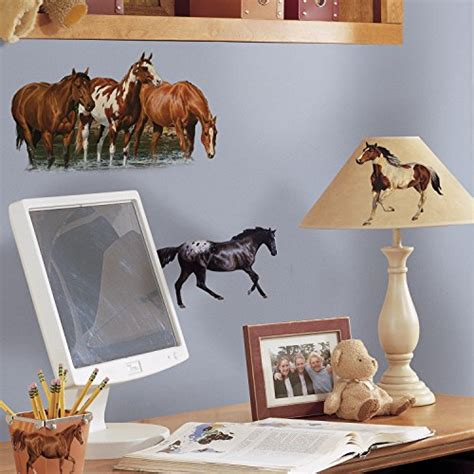 stickers chevaux pour chambre roommates rmk1017scs horses peel and stick wall