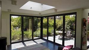 corner bifold door installation in muswell hill north london With bifold doors with windows