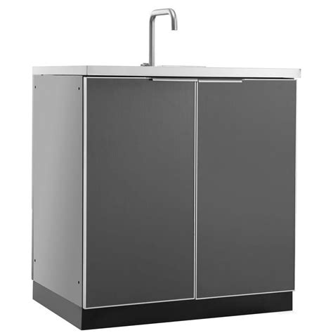kitchen faucet discount newage products aluminum slate 32 in 3 drawer 32x33 5x23