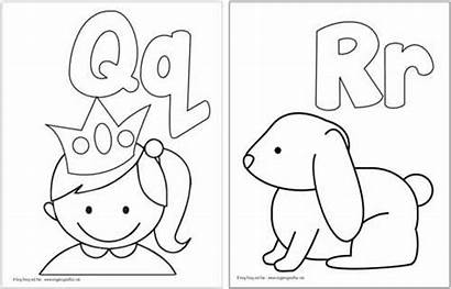 Coloring Pages Alphabet Printable Pre Letter Letters