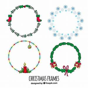 Hand painted rounded christmas wreath Vector | Free Download