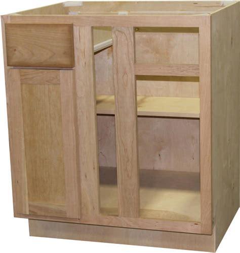 unfinished blind corner base cabinet quality one 36 quot x 34 1 2 quot unfinished cherry blind corner