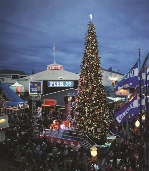 light up the night at the pier 39 tree lighting celebration