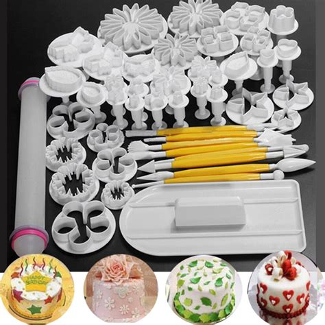 pcs fondant cake sugarcraft decorating kits cutters