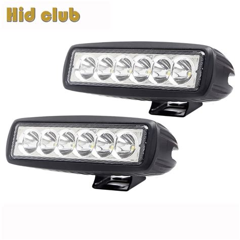 assem 18w led spot work 2pcs 18w 6 inch led work light 12v mini led bar for car