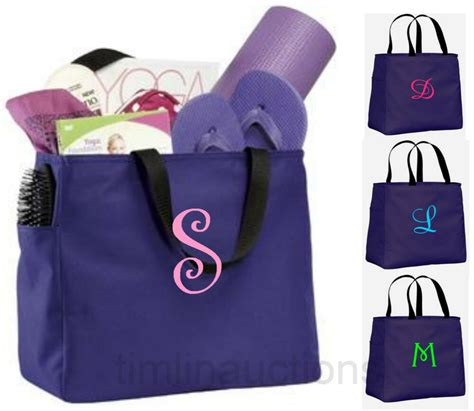 bridesmaid gift bags personalized tote bag monogram bridal