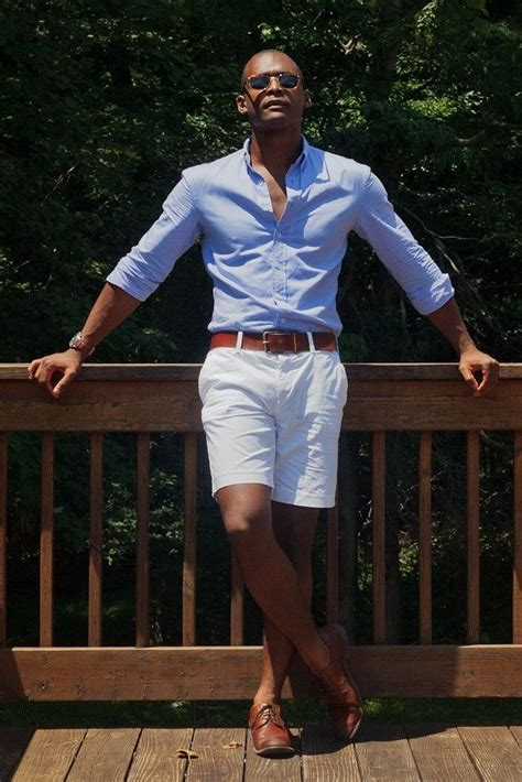 light blue dress shoes mens men 39 s light blue long sleeve shirt white shorts brown