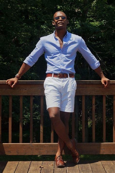 stylist tips  men   wear white shorts