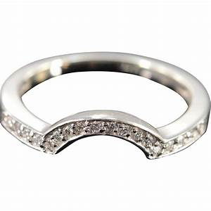 14k 018 ctw diamond wrap around wedding band ring size With wedding bands that wrap around engagement ring