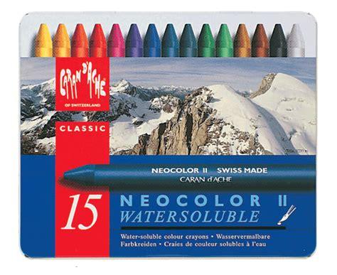 caran dache classic neocolor ii metal box   rex art