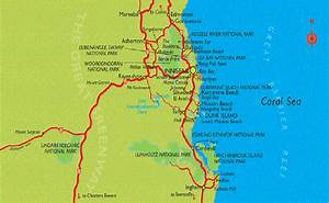 Map Of Region  U2013 Ingham To Cairns And Atherton Tablelands