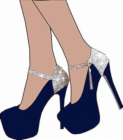 Heel Heels Clipart Shoes Sparkly Clip Vector