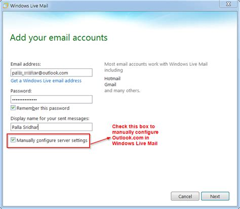 how do i add an email account to my iphone how to manually configure outlook for windows live