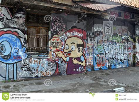 Grafiti Jogja : Street Art Graffiti On The Wall In The Street Art In