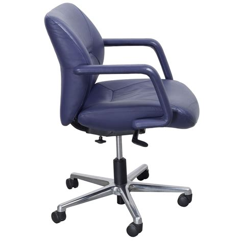 keilhauer respons used leather managerial low back chair