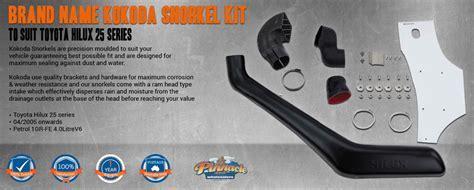 Name Brand Kokoda Snorkel Kit to Suit Toyota Hilux 25 Series