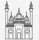 Masjid Sketsa Gambar Coloring Ramadan Mosque Line Disimpan Dari Website sketch template