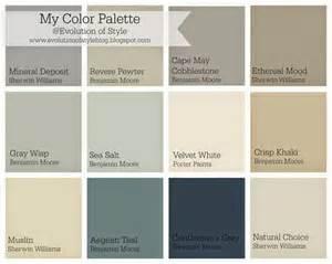 whole house color palette evolution of style paint
