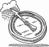 Barometer Barometers Barometre Atmospheric sketch template