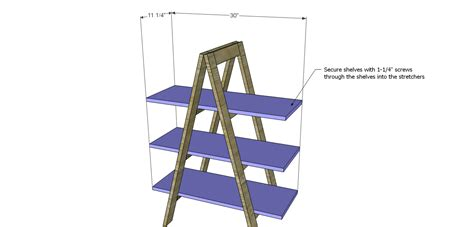 a frame shelf a frame bookshelf plans