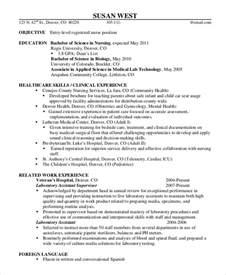 Entry Level Registered Resume Template by Sle Registered Resume 9 Exles In Word Pdf