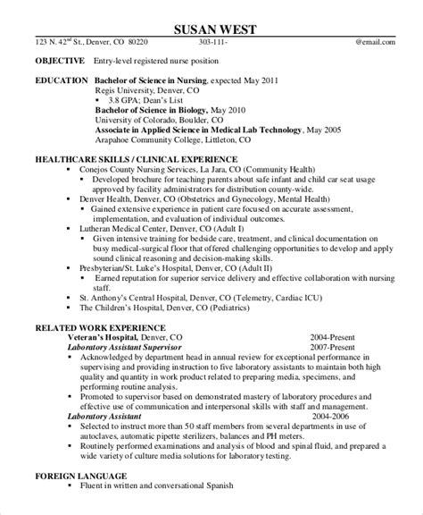 9+ Sample Registered Nurse Resumes  Sample Templates