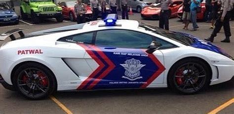 indonesian police    lamborghini police cars