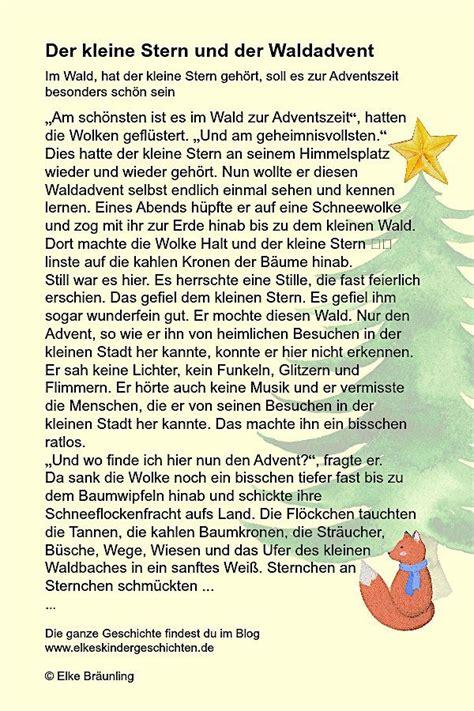 Der Kleine Stern Und Der Waldadvent Weihnachten