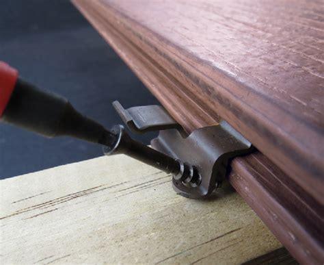 timbertech composite decking accessories hidden