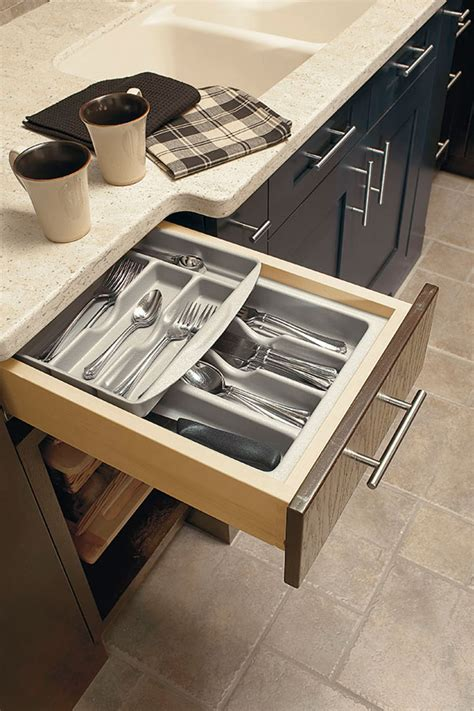 double cutlery tray kitchen craft cabinetry