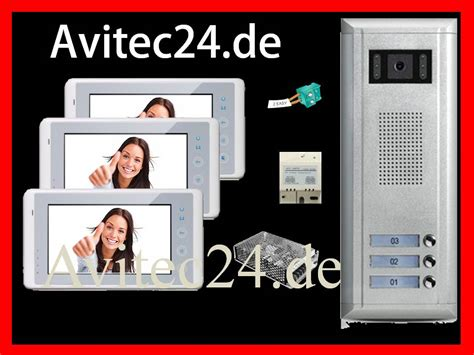 türsprechanlage 2 draht technik t 220 rsprechanlage 3 familien 2 draht technik sony ccd