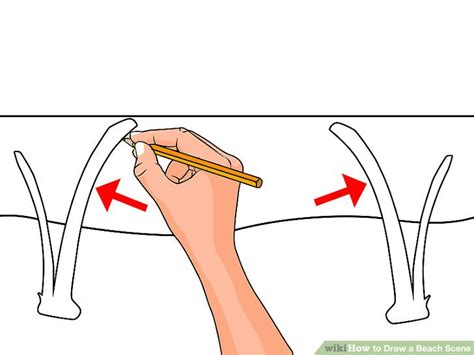 How To Draw A Boat Scene by How To Draw A Beach Scene 6 Steps With Pictures Wikihow