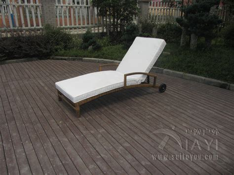 patio pe rattan lounge chair modern comfortable chaise