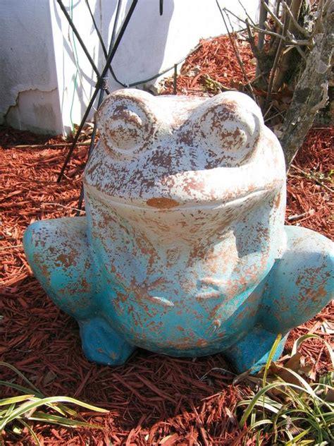 terra cotta frog planter  blue frog imports