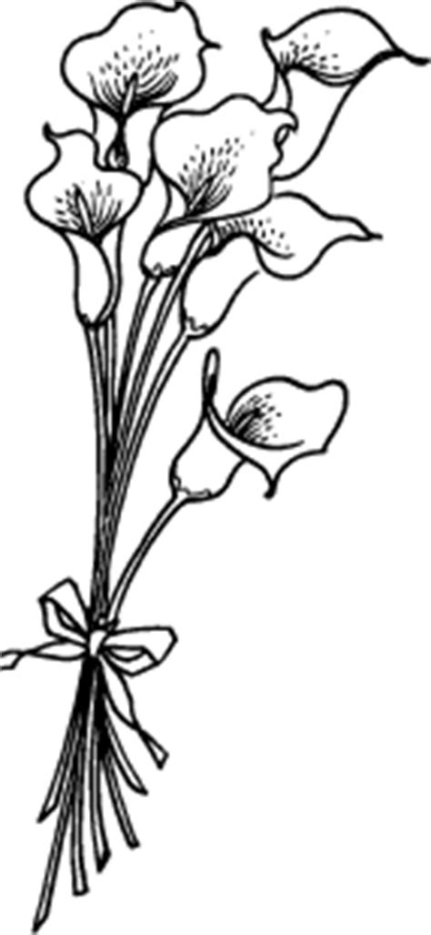 Calla Lily with Ribbon K-134 | Rubber Stamps & Stationery | Calla lily tattoos, Lilies drawing