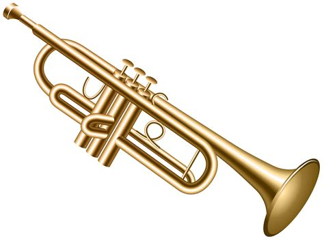 Trumpet Clipart Brass Clipart Summer Pencil And In Color Brass