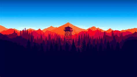 firewatch forest landscape  game