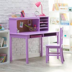Guidecraft Media Desk & Chair Set - Lavender - Kids Desks