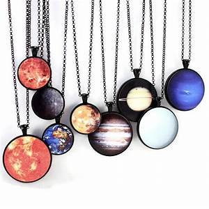 Planet Science Necklaces Solar System Jewelry by ShopGibberish