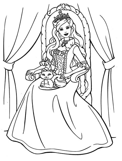 desenhos da barbie  colorir  imprimir ideias mix