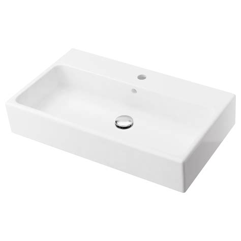 lavabo vasque ikea yddingen single wash basin white 70 cm ikea