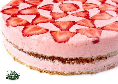 la cuisine de bernard gâteau aérien aux fraises