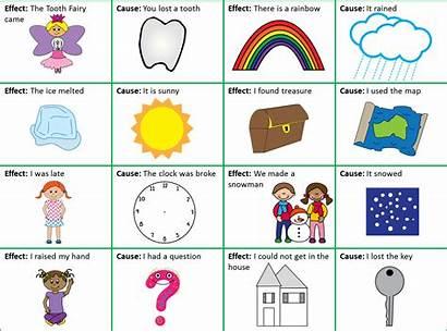 Cause Clipart Effect Memory Match Card Teaching